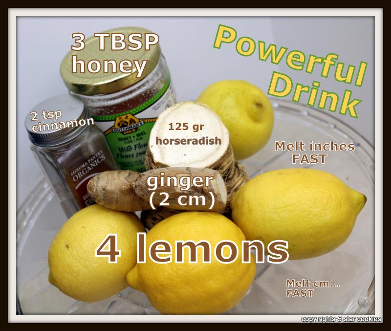 Russia powerful drink from the best food blog 5starcookies- horseradish,lemon,ginger,honey and cinnamon