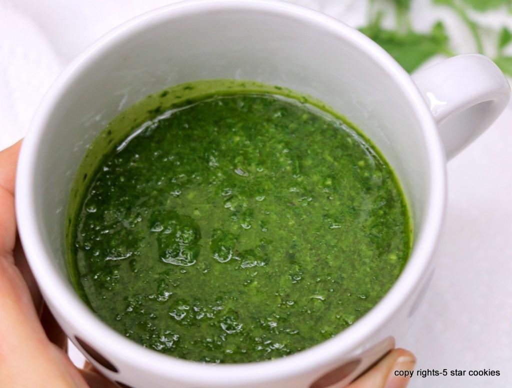 blend kale, Italian parsley, basil,salt and olive oil