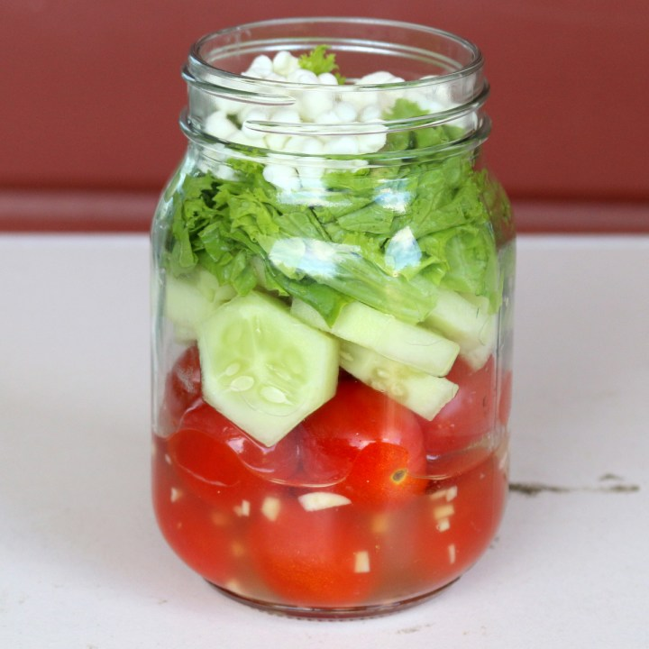 5 Star Salad in a Jar - Office Lunch
