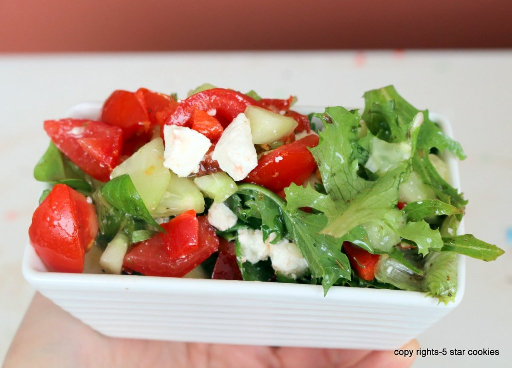 Greek salad from 5starcookies-easy lunch,dinner or side dish