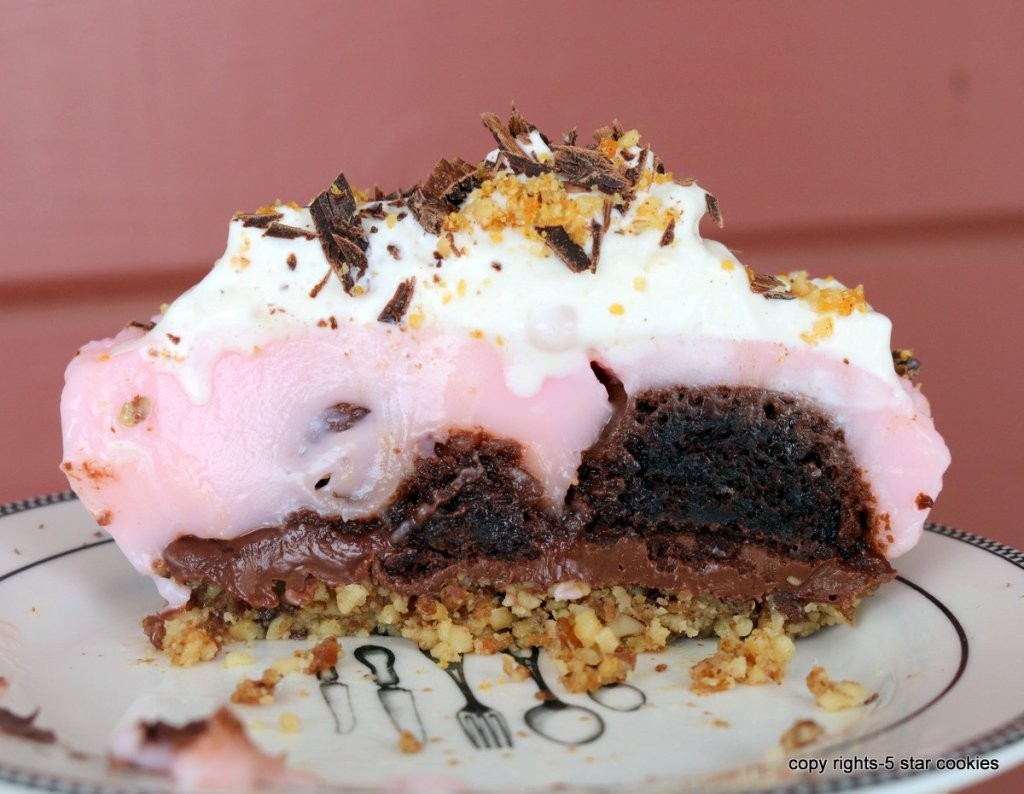 pink two bite brownies-easy no bake recipe