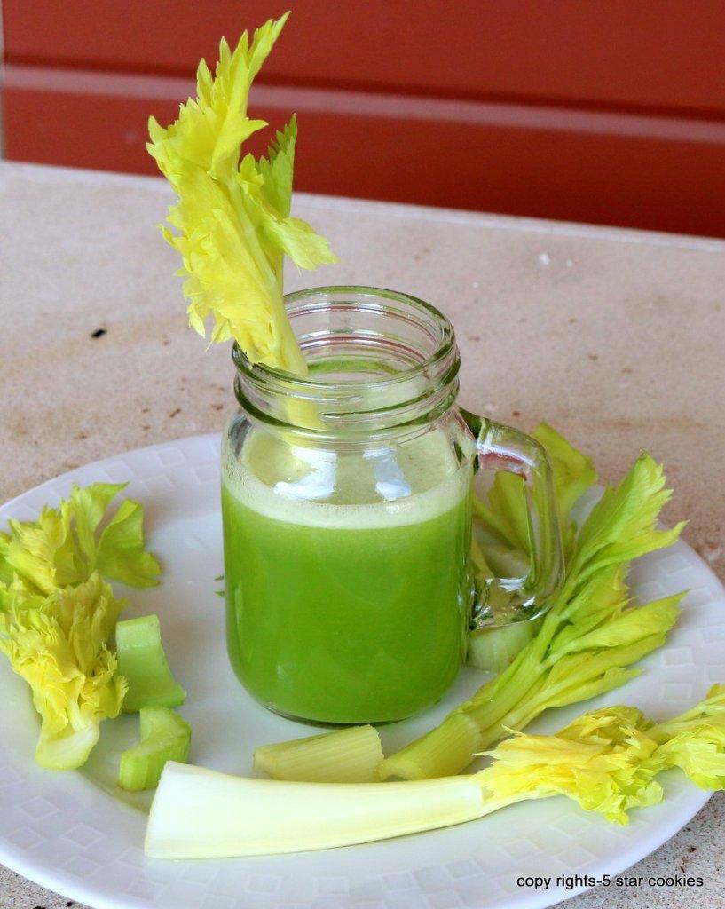 healing drink celery lemon juice from 5starcookies