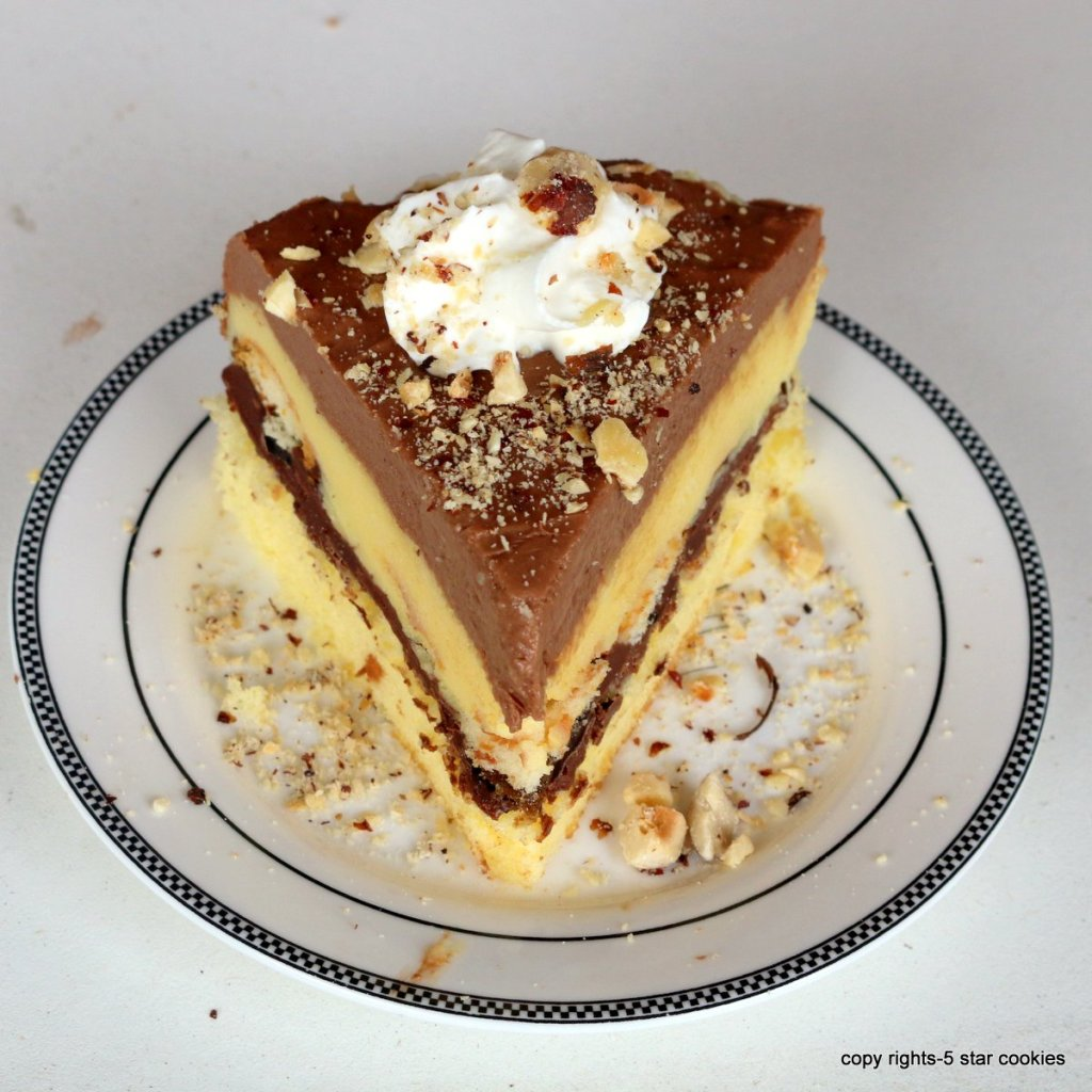 nutella cake with hazelnuts