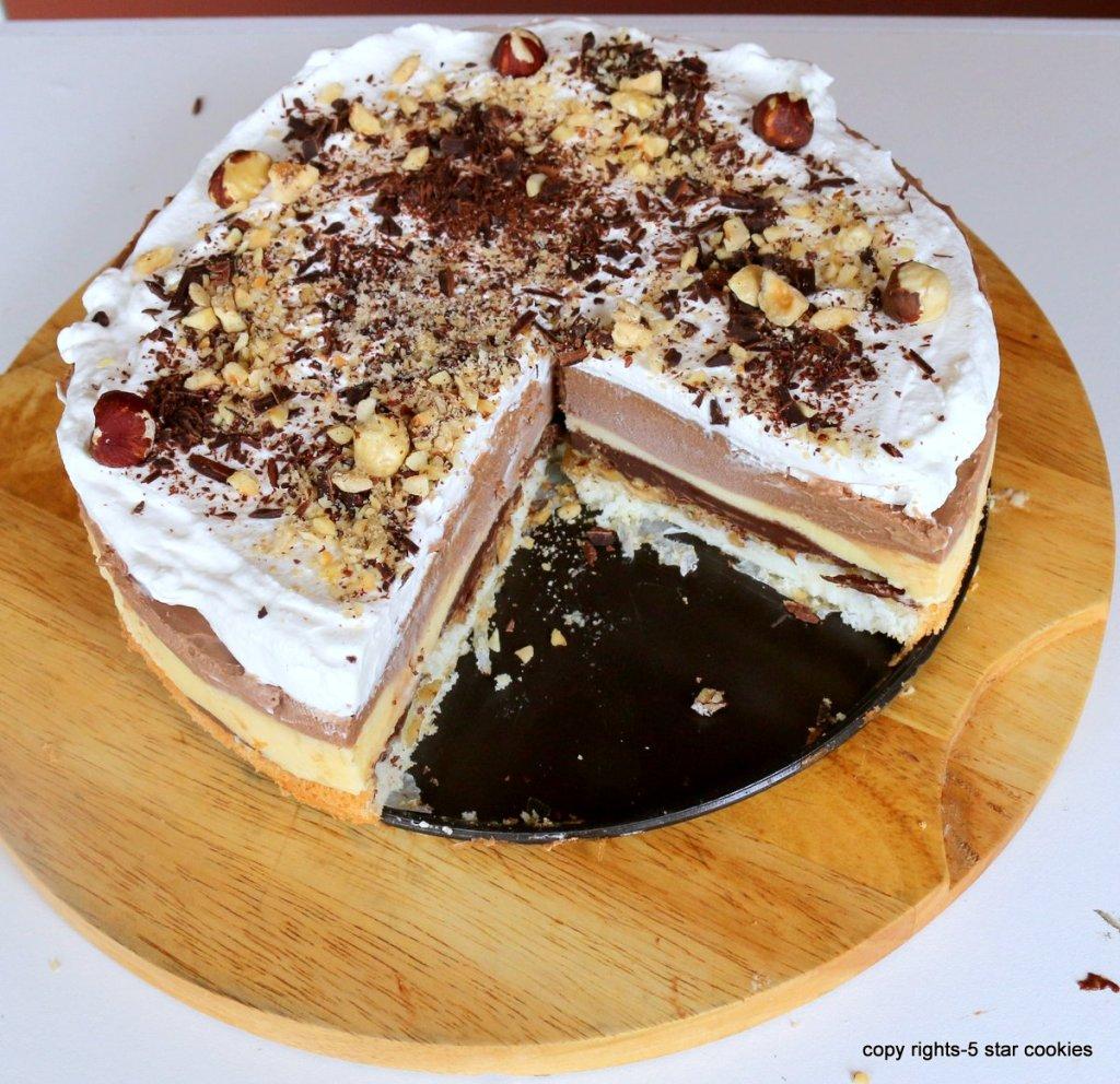 Hazelnuts Nutella Torte