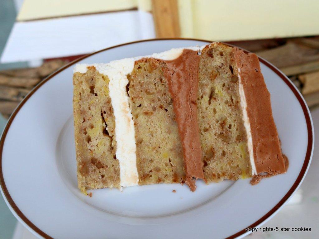 simple banana cake or torte