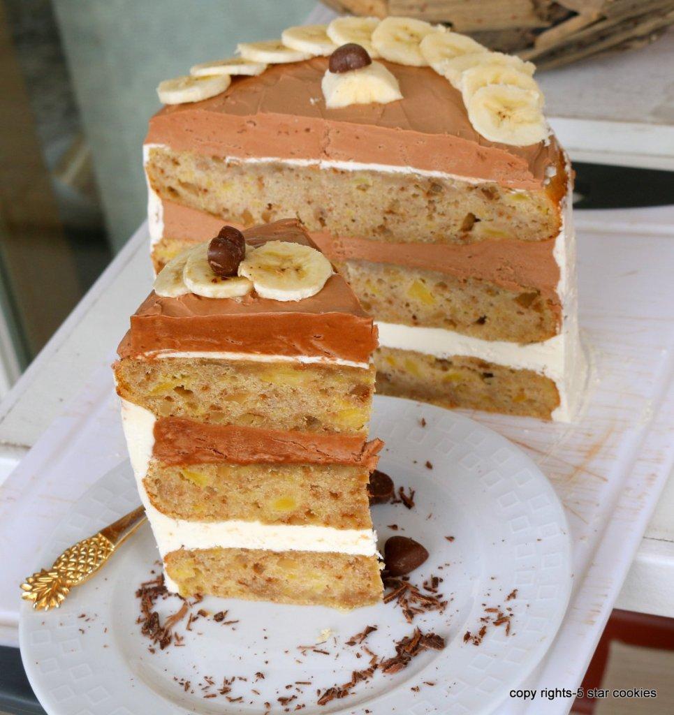 easy banana cake torte