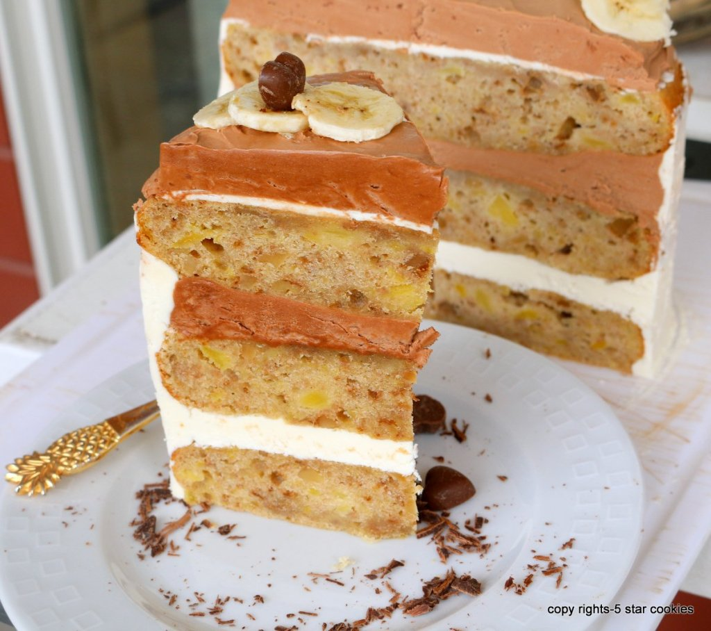 Simple Cake with bananas