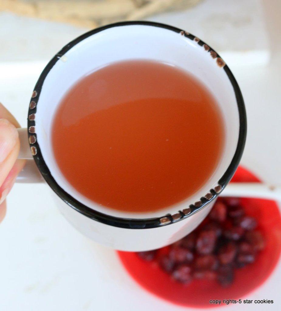 Easy Cranberry Healthy Tea
