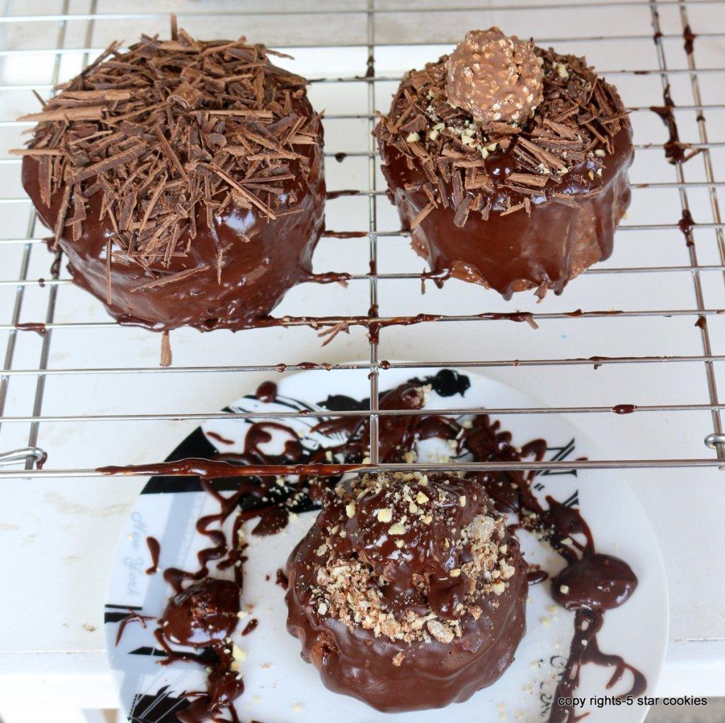 mini ferrero cake with Nutella