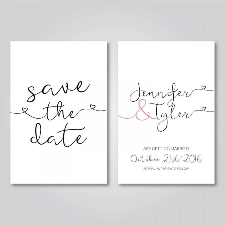 Draw focus to the important elements of your invites, forget the fussy frills. Photo: Weddbook