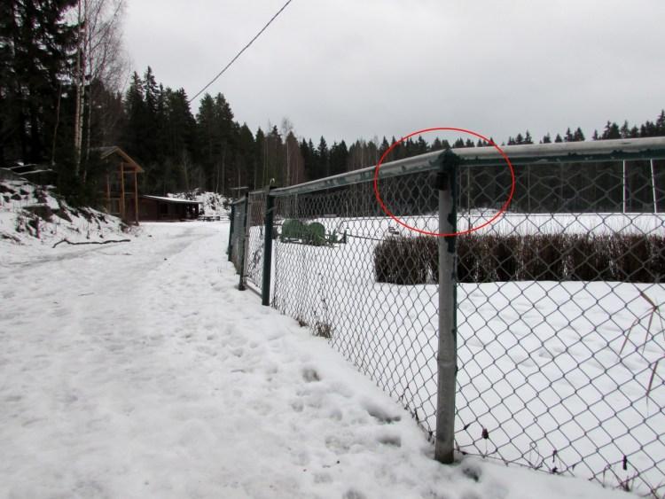 Kuva 1 - Kätkö, jonka terrain on 1 on saavutettavissa pyörätuolilla. Kuvan kätkö saattaa olla hankala talvella pyörätuolilla lähestyä, mutta olisi silti terrain 1.