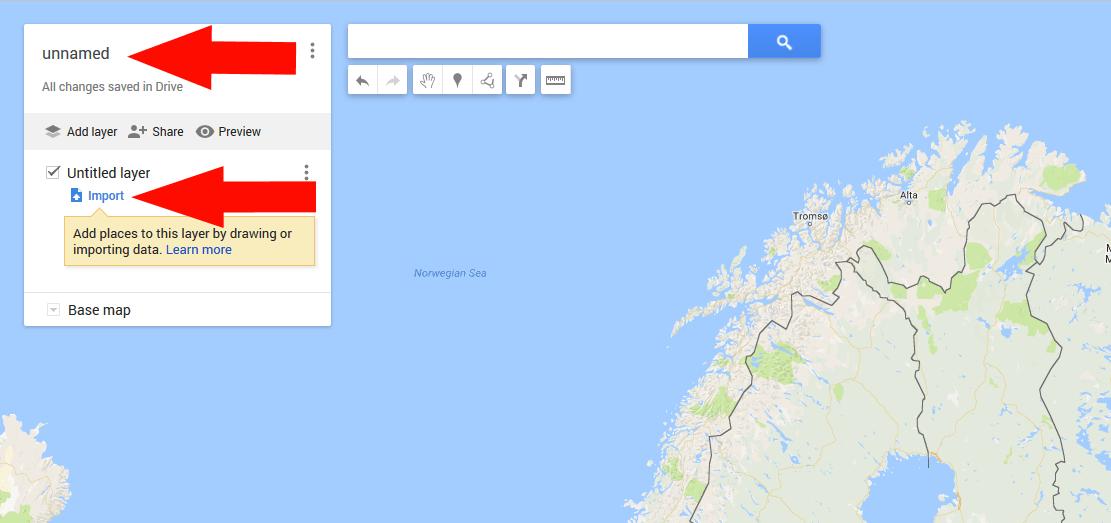 Kuva 9 - Klikkaa kartan nimitekstiä nimetäksesi kartan.