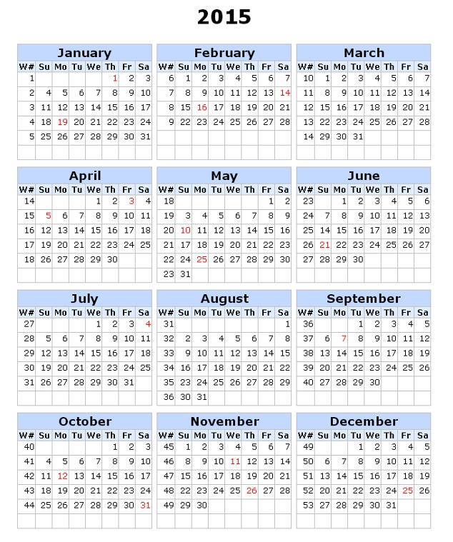 2015 calendar with weeks numbered in excel autos post for 2015 yearly calendar template in landscape format