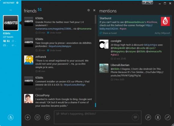 Metrotwit, un sacré look pour twiter