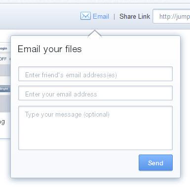Partagez l'adresse des documents par email