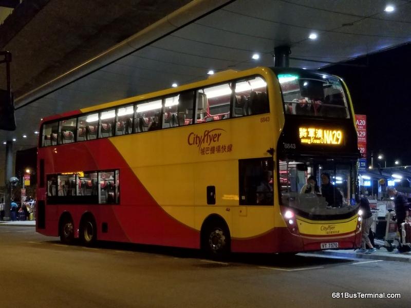 All-Night Cityflyer Route 城巴通宵機場快線 - NA29