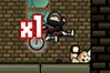 [マウスドラッグで移動する忍者のアクションゲーム]Sticky Ninja Missions