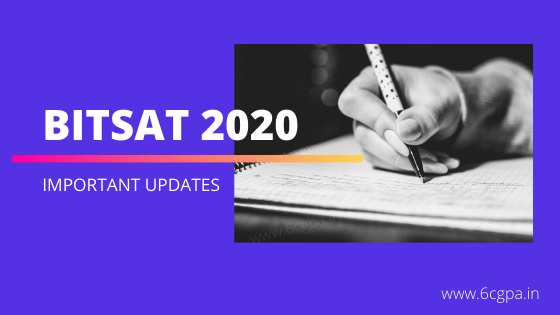 bitsat-2020-birla-institute of technology and science entrance exam