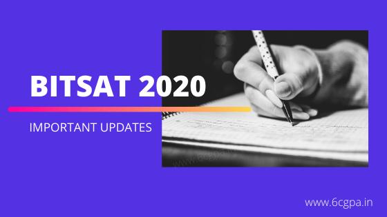 bitsat-2020-birla-institute of technology and science entrance exam