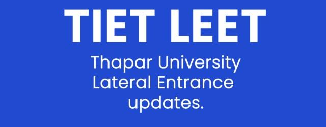 tiet-leet- thapar-university-lateral-entry