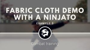 6 Dragons Kung Fu's Fabric Cloth training with a Ninjato