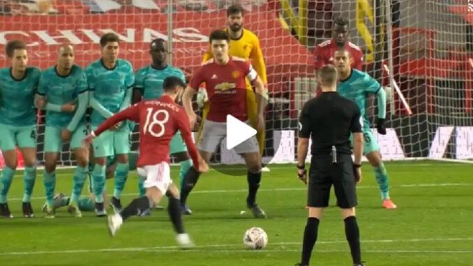 Bruno Fernandes wonderful Free kick
