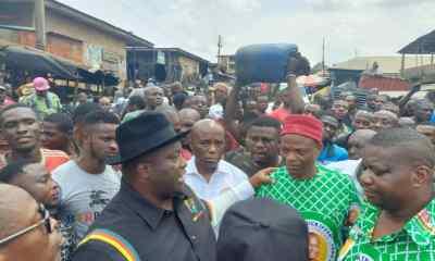 See Photos As Senator Ubah Visits Burnt Mgbuka Nkpor Market