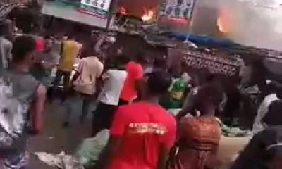 See Photos As Fire destroy Ladipo Market