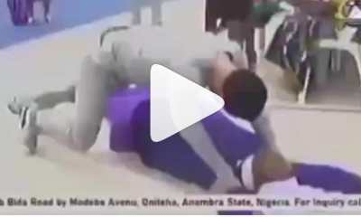 Watch Video As Pastor Odumeje Seen On Top of A Reverend Sister