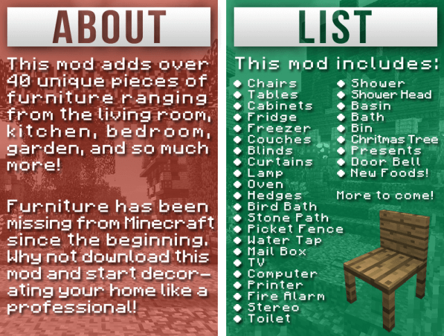furniture-mod-list