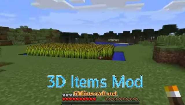 3D Items Mod 1.9.4