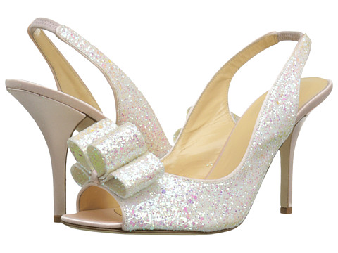 Kate Spade New York Charm (White Multi Glitter/Rose Petal Pink Satin) High Heels
