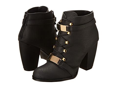 Michael Antonio Margie (Black Heavy Grain PU) Women's Lace-up Boots