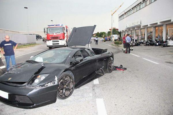 Lamborghini Murcielago Crashes Into Bmw Dealership In Italy