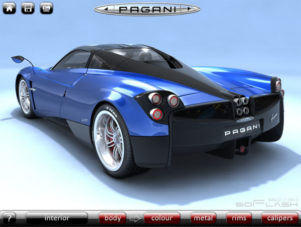 Play With the Unofficial Pagani Huayra Configurator - 6SdOnline