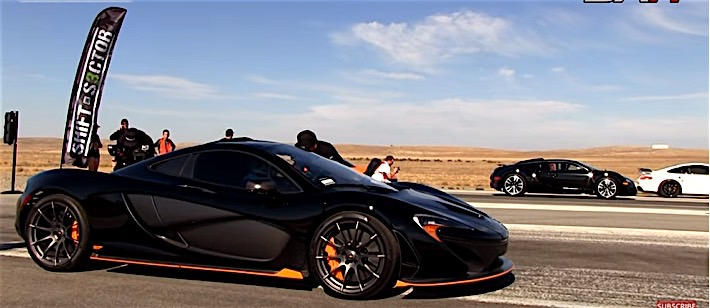 Bugatti v McLaren Drag Race