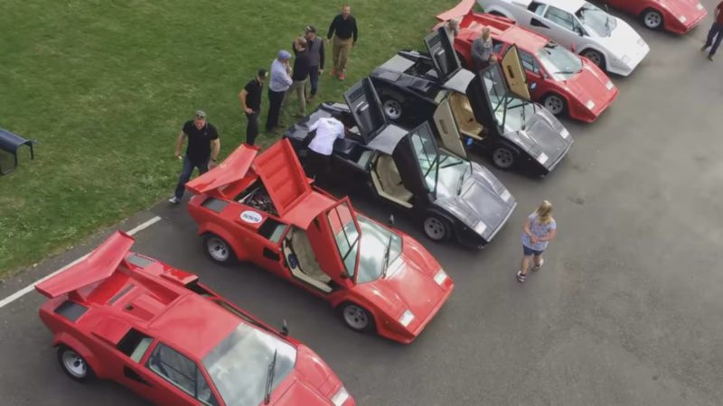 Watch The Sights And Sounds Of The 2016 Uk Lamborghini Countach Tour