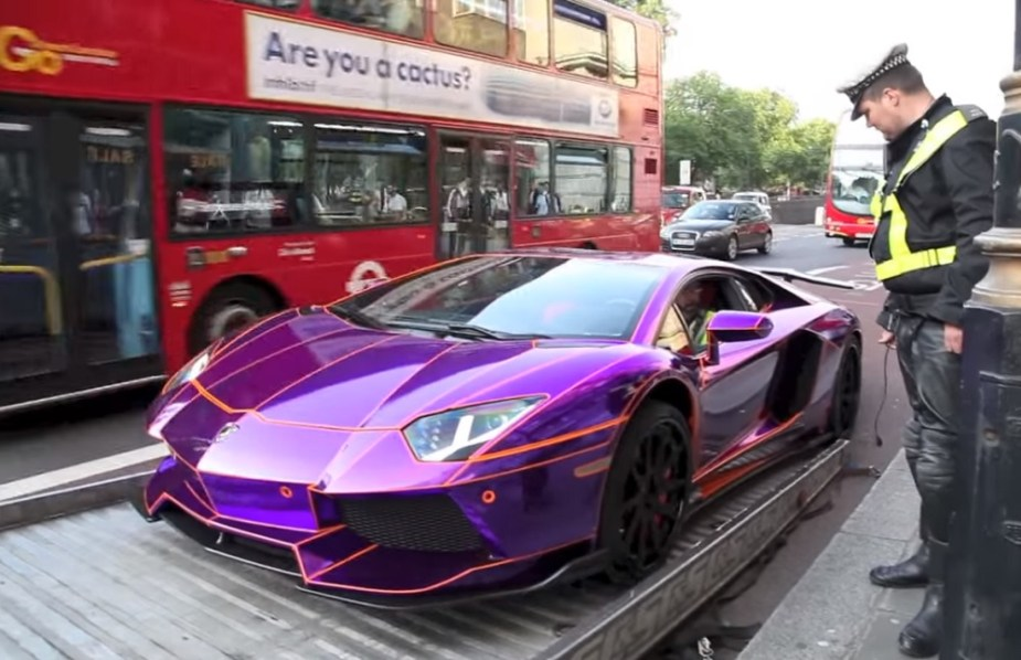 Watch London Police Tow This Custom Lamborghini Aventador 6speedonline