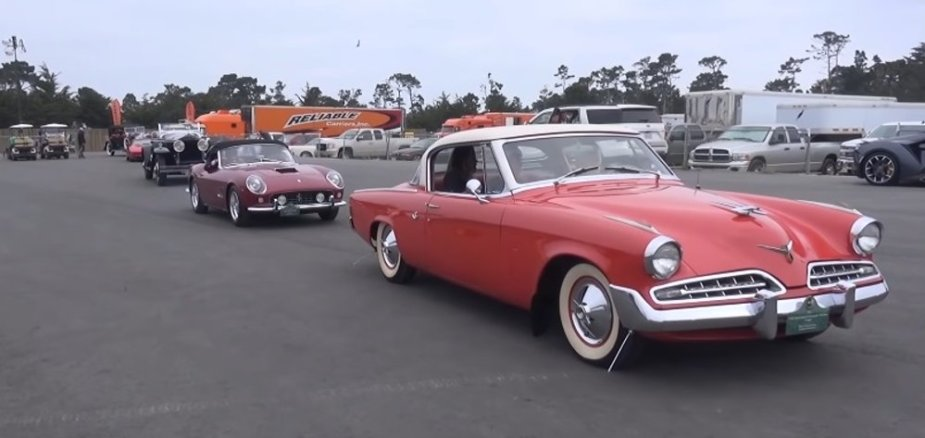 Ferrari and Studebaker at the Polo Fields
