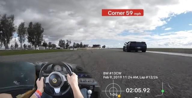Lotus Passing Corvette