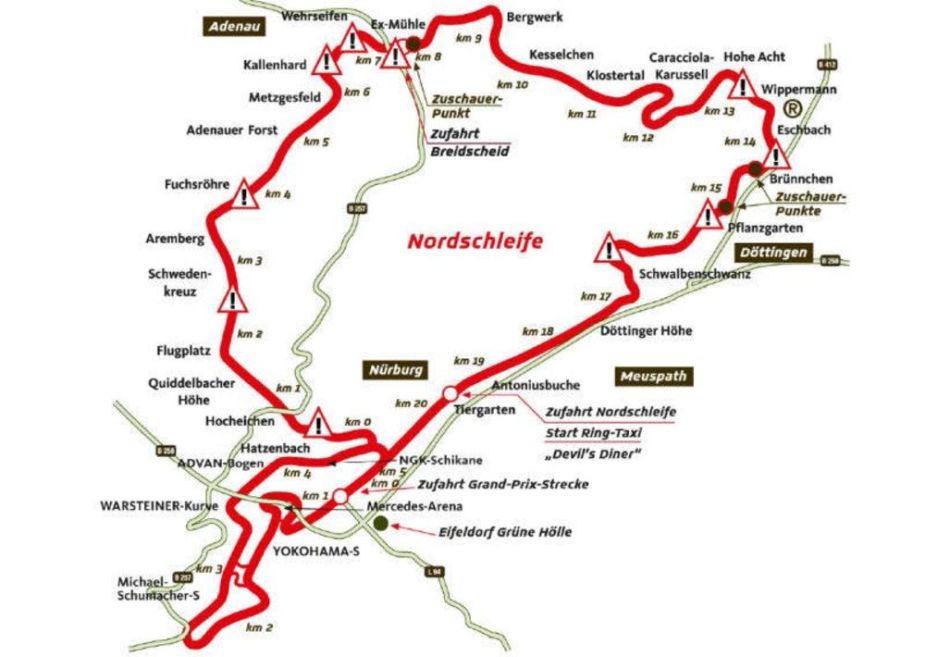 Nurburgring Map Indiana Schweinefiletring Local Nurburgring