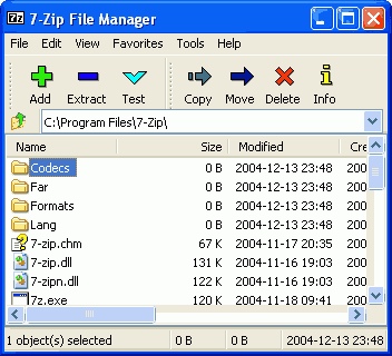 7zip working area