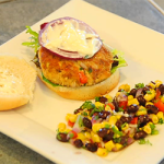Salmon Burgers With Lemon Aioli and Southwestern Black Bean & Corn Salsa ($10 or Less Meal)