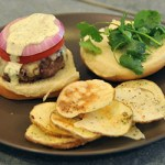 Spicy Grilled Chipotle Burgers With Cilantro Aioli & Homemade Chips – $10 Or Less Meal