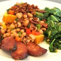 New Year's Day Cornbread With Black-eyed Pea Topping & Collard Greens – $10 or Less Meal