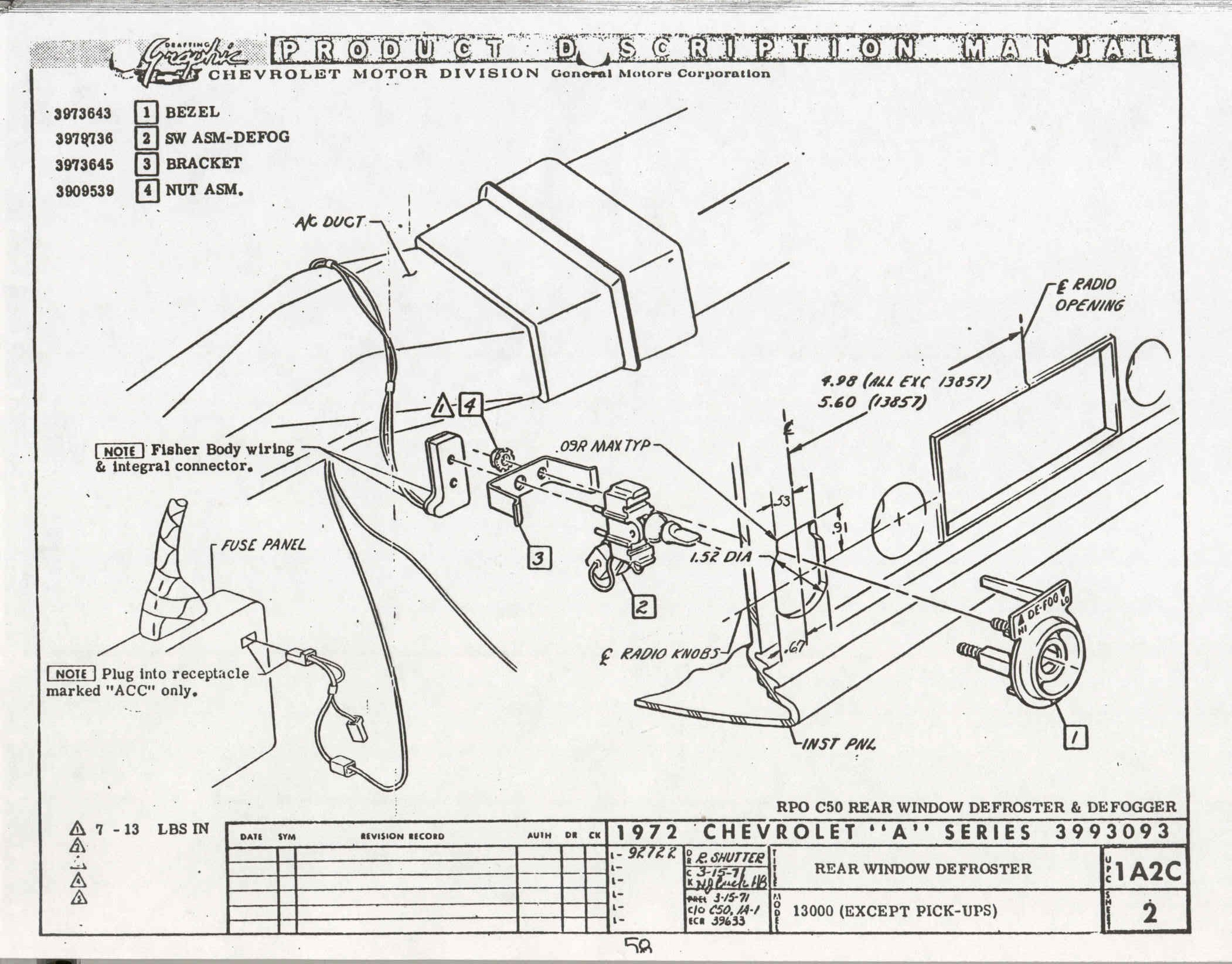 1971 Monte Carlo Wiring Harness Guide And Troubleshooting Of 1972 Ac Diagram Ss Engine 1969