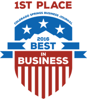 Colorado Springs Business Journal 1st Place Best In Business 2016