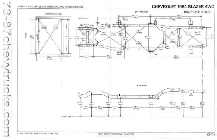73 87 chevy truck frame dimensions | lajulak.org 91 chevrolet s10 wiring diagram #3