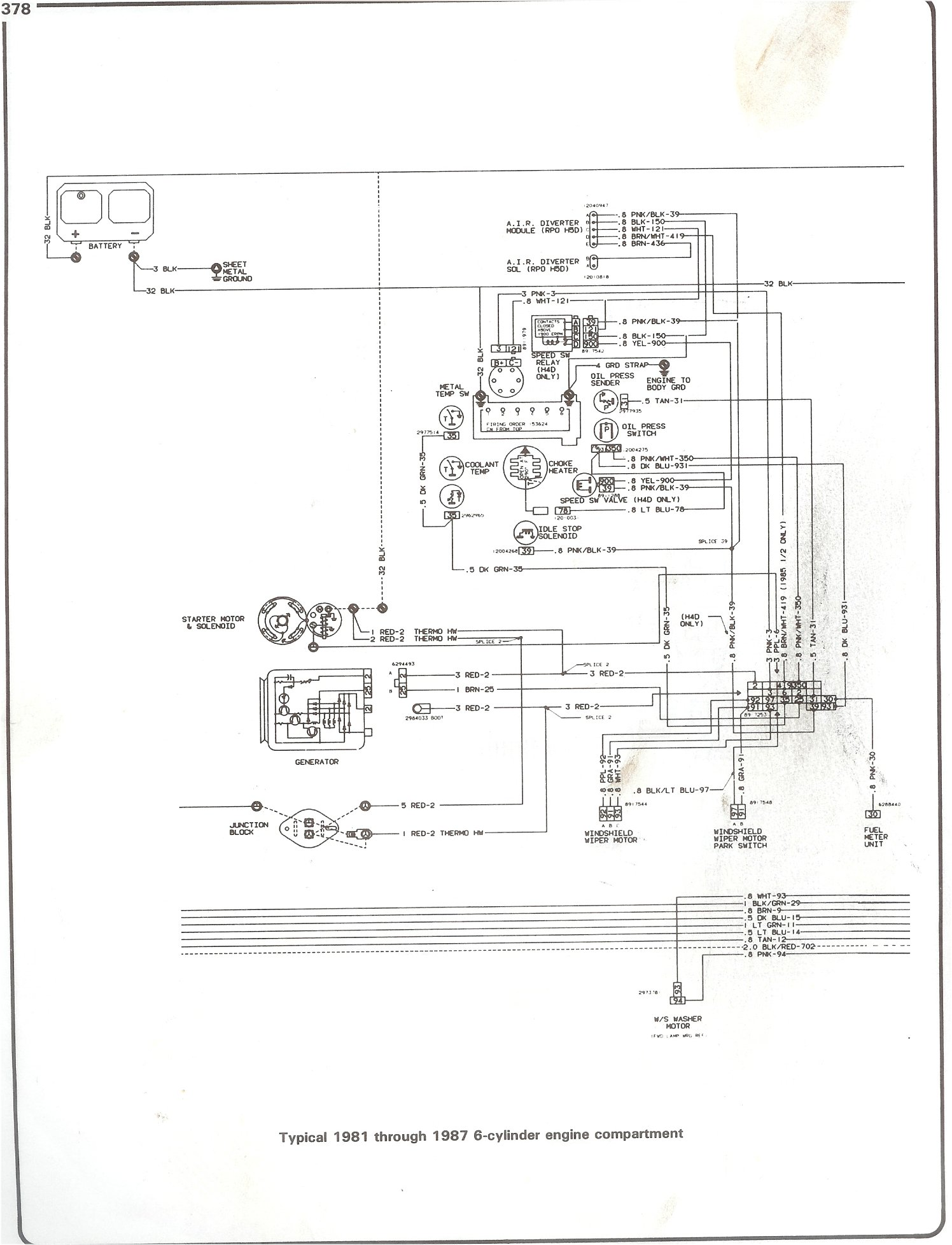 Chevy Truck C10 Wiring Diagram