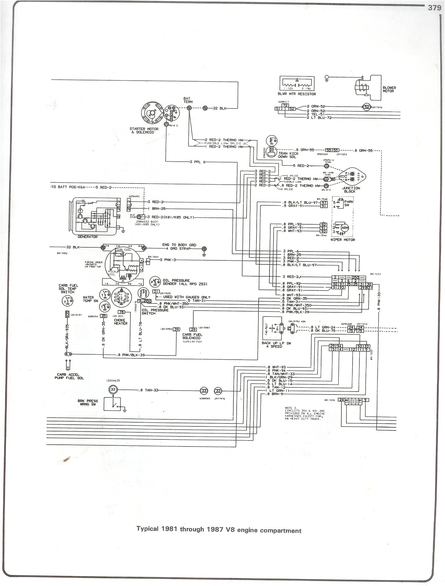 84 Chevrolet Wiring Diagram Silverado Free Download Diagrams Schematics 85 Chevy Truck V8 1981 1987 K10